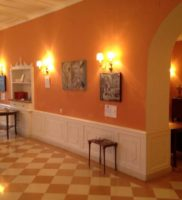 View of the exhibition venue on the ground floor of the Corfu Reading Society