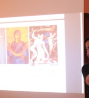 Sasha lecturing on Ideasthesia and symbolist art